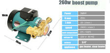 260W Household Automatic Booster Pump Gas Water Heater Solar Water Pressure Pump