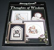 STONEY CREEK COUNTED CROSS STITCH THOUGHTS OF WISDOM #104 1993 PATTERN BOOK
