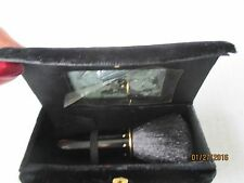 Lancome Vintage Makeup Cosmetic Soft Brush in Velours Case w/Mirror
