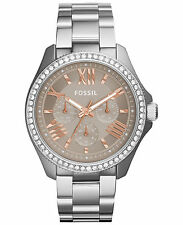 FOSSIL AM4628 Cecile Multifunction Crystal Stainless Steel 40mm Ladies Watch
