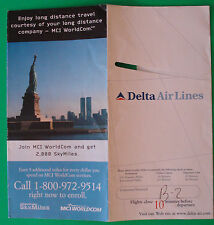 VINTAGE DELTA AIR LINES BOARDING TICKET JACKET WORLD TRADE CENTER MCI WORLDCOM