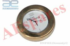 ROYAL ENFIELD LOGO WHITE DIAL BRASS STEM NUT /HANDLE T NUT WATCH CLOCK @ECspares
