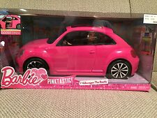 NEW!! Barbie Volkswagen Pink Beetle Car and Doll Set
