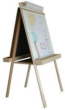 BEKA DELUXE CHILD'S EASEL With BLACK CHALKBOARD, MAGNET BOARD & WOOD TRAYS NEW