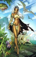 J SCOTT CAMPBELL signed SAVAGE LAND STORM ART PRINT w COA MARVEL X-MEN SDCC 2016