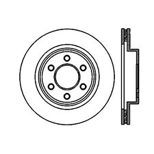 Disc Brake Rotor-High Performance Slotted Centric fits 03-06 Dodge Viper