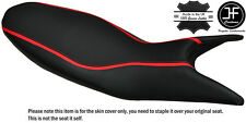 CARBON GRIP RED STRIPE CUSTOM FITS DUCATI HYPERMOTARD 821 939 13-17 SEAT COVER