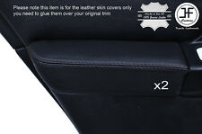 BLACK STICH 2X REAR DOOR ARMREST LEATHER COVER FOR SUBARU IMPREZA WRX STI 01-04