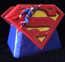 "Superman Limited Edition ""S"" Logo Flying Superman Cookie Jar Vandor MIB Retired"