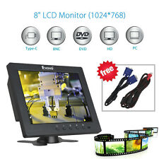 "8"" Inch LCD Video Audio VGA BNC Ypbpr HDMI Monitor Screen DVR PC CCTV Security"