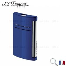 S.T. Dupont Accendino Maxi Jet Blu Blue Night Lucido Lighter Feuerzeug Briquet