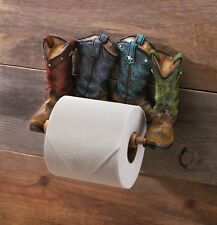 NEW COWBOY BOOTS TOILET PAPER HOLDER WESTERN BATHROOM DÉCOR'
