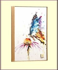 BUTTERFLY GARDEN VISITOR PRINT ON CANVAS WALL ART BY DEAN CROUSER FREE SHIPPING