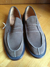 TRICKERS BEIGE VELOURSLEDER LOAFERS MOKASSIN US 11.5 EUR 45 UK 10.5