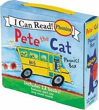 2-DAY SHIPPING | Pete the Cat Phonics Box: Includes 12 Mini-Books Fea, PAPERBACK