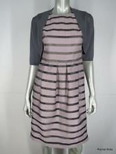 $1890 LELA ROSE 2-Piece Jacquard Blush Cocktail Dress 4 & Gray Silk Shrug M USA