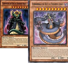 (Lot of 2 Cards Vennominaga The King +Deity of Poisonous Snakes 1st  RYMP Yugioh
