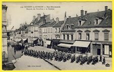 cpa 28 NOGENT le ROTROU (Eure et Loir) RUE CHARONNERIE RÉGIMENT SOLDATS CASERNE