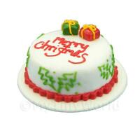 Dolls House Miniature Christmas Cake With Parcels