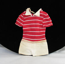 Vtg Free Moving Ken Mod 70s Outfit Red White Striped Shorts Jumpsuit TLC Clothes