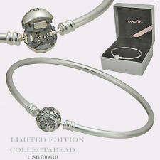 "Authentic Pandora Unique Snowflake Limited Edition Bangle 8.3"" USB796621"