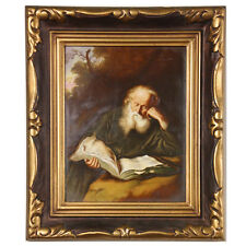 """The Hermit"" by Solomon Koninck Framed Print on Porcelain Rosenthal St. Jerome"