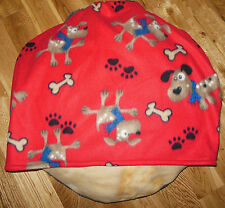 SMALL DOG BED SLEEPING BAG, SILLY PUPS IN SCARVES, COMFY COZY
