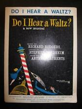 Do I Hear A Waltz Sheet Music Vintage 1965 Stephen Sondheim Richard Rodgers (O)