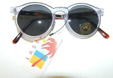 NEW DEADSTOCK VINTAGE SILVER/GREY ROUND SUNGLASSES EIGHTIES FESTIVAL 80S 90S