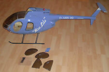 hubschrauber robbe chassis modell bau Md 500 E helikopter teile f. bastler 145cm