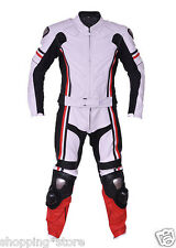 MOTORCYCLE RACING LEATHER BIKR SUIT MOTORBIKE MEN SUIT JACKET TROUSER TWO PIECE