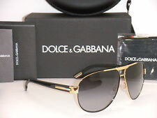 DOLCE & GABBANA 2099 DG 2099 1081/8G 61MM BLACK GOLD/GREY GRADIENT NEW AUTHENTIC
