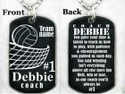 VOLLEYBALL COACH - Dog tag Necklece/keychain + FREE ENGRAVING
