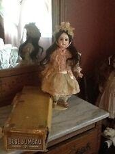 Antique Jumeau Depose Bebe 7 French Doll Box Dress Custom Dress Bee Shoes