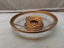 """Antique Aladdin Brass 7"""" Shade Holder Ring With Gallery (LP88)"""