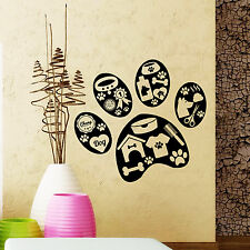 Wall Decal Pet Grooming Salon Dog Scissors Shop Comb Vinyl Sticker Decor DA3988