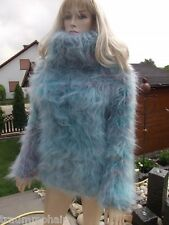 Traummohair p1b Fluffy longhair mohair suéter Sweater Jumper cowlneck New XL