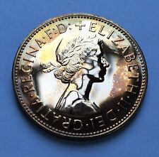 Gb Elizabeth Ii - Penny - Last Year Minted 1970 + Toned Proof! + [ton]