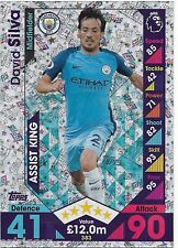 2016 / 2017 EPL Match Attax (383) Assist King DAVID SILVA Manchester City