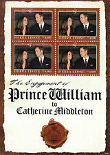 Sierra Leone 2011 MNH Royal Engagement 4v M/S Prince William Kate Royalty Stamps