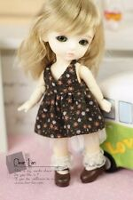 Lati Yellow Puki Fee AE Doll Outfit Brown Floral Dress
