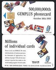 SALON TELECOM 95 GENEVE Geneva GEMPLUS GEM demo TEST ESSAI trial 500.000.000th