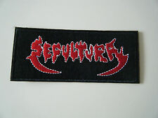 SEPULTURA PATCH Embroidered Iron On Thrash Metal Logo Badge Schizophrenia NEW