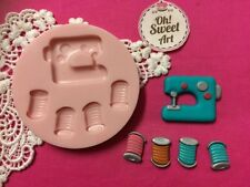 Sewing Machine Set silicone mold fondant cake decorating cupcake food FDA