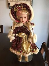 Unbranded  Fancy Holiday  Porcelain Doll,16""