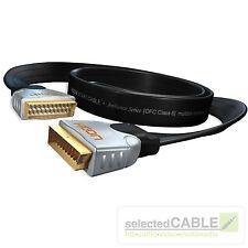 HICON Ambience SCART-Kabel 1,5m Flachband mehrfach geschirmt | HIA-SFSF-0150