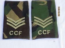 Rangschlaufen:  Sergeant , CCF,DPM, Combined Cadet Force,Paar, 60x95mm