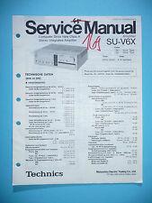 Manual de servicio para Technics su-v6x, original
