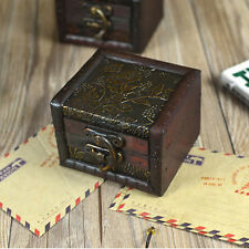 Archaistic Square Wooden Box Storage Box Simple Litter Container Home Decor
