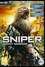 SNIPER: GHOST WARRIOR. GOLD EDITION. PC. BRAND NEW. SHIPS FAST and SHIPS FREE